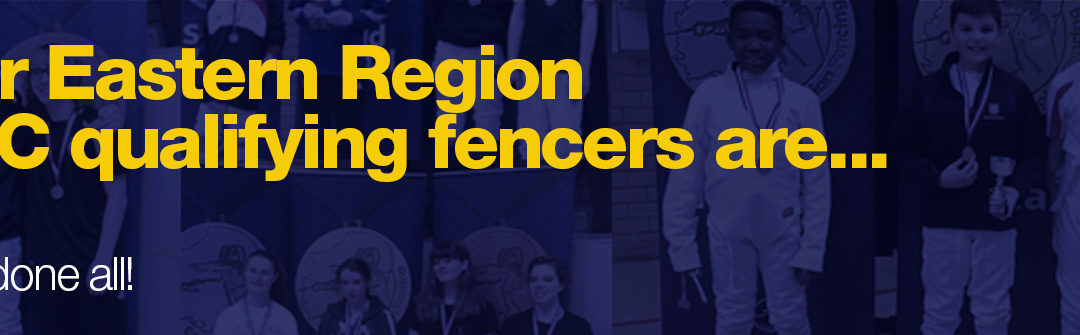 The qualifying fencers for the British Youth Championships from our region are: